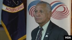 NASA administrator Charles Bolden Jr. in Bangkok, Aug. 28, 2015. (Zinlat Aung/VOA News)