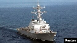 El destructor USS Ramage en una foto de archivo, es uno de los cuatro destructores actualmente desplegados en el Mediterráneo.