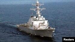 Jedan od američkih razarača koji se nalaze u Sredozemnom moru