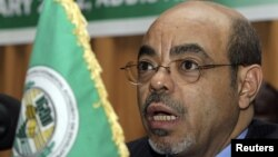 Ethiopia's Prime Minister Meles Zenawi in Addis Ababa, January 27, 2012.