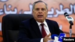 Libyan Defense Minister Mohammed al-Barghati is seen in a May 11, 2013, file photo.