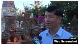 Ông Nguyễn Quốc Cường trả lời phỏng vấn đài truyền hình BolsaTV, tháng 4/2019.