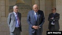 Sameh Shoukrty wezîrê derve yê Misrê di preskonferansekê de li Ramallah