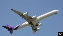 Salah satu pesawat penumpang milik maskapai Thai Airways (foto: dok).