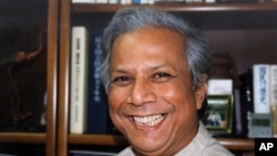 Nobel Peace Prize Laureate and founder of Bangladesh's Grameen Bank Muhammad Yunus.