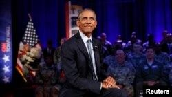 آقای اوباما چهارشنبه شب در گفت گویی با پرسنل نظامی پادگان فورت لی در ویرجینیا به میزبانی سی ان ان شرکت کرد.