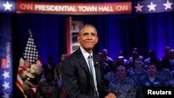 Barack Obama, Fort Lee, Virginie, le 28 septembre 2016.