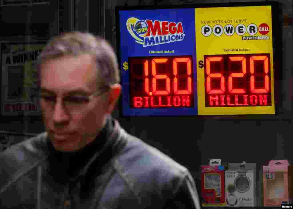 بلیت بخت آزمایی مگامیلیون به ۱.۶ میلیارد رسید و سه شنبه شب به وقت آمریکا قرعه کشی می شود. هر بلیت این بخت آزمایی دو دلار است و به صورت نقدی تنها در آمریکا از فروشگاه ها خریداری می شود.