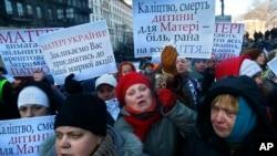 Ukraina inqilobida ayollar ham faol ishtirok etdi, Kiyev, 24-yanvar, 2014-yil.