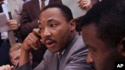 مارٹن لوتھرکنگ جونیئر کی یادگار کی افتتاحی تقریب