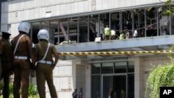 Hiện trường vụ tấn công tại khách sạn Shangri-la ở Colombia, Sri Lanka, ngày 21/4.