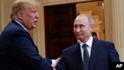 Дональд Трамп и Владимир Путин. Хельсинки. 16 июля 2018 г.