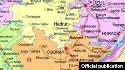 Cəbrayıl, Füzuli rayonlarının xəritəsi