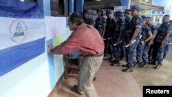 Votaciones municipales en Managua, Nicaragua, donde los sandinistas arrasaron en 12 de las 15 cabeceras departamentales.