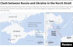 Lokacije Kreičkog moreuza i mosta preko njega, koji povezuje Rusiju i Krim.