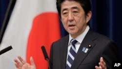 15일 환태평양경제동반자협정 TPP 참여를 공식 선언하는 아베 신조 일본 총리.