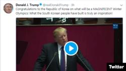 도널드 트럼프 대통령의 7일 트위터 화면 캡쳐.
