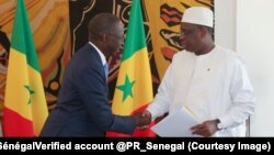 Le président Macky Sall a, par un décret, reconduit au poste de Premier ministre Mahammed Boun Abdallah Dionne à Dakar, Sénégal, 7 septembre 207. (Twitter/Présidence Sénégal‏Verified account @PR_Senegal)