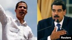 Nicolas Maduro et Juan Guaido.