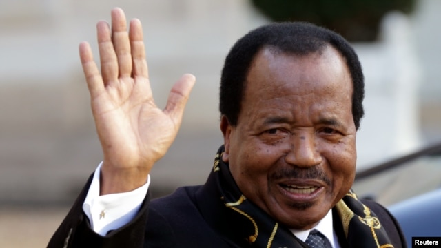 FILE - Cameroon President Paul Biya, shown in 2013, has ruled since 1982. Some of his countrymen say that's too long. His supporters disagree.