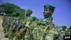 Abasirikare b'Abarundi bo mu ngabo za Amisom muri Somaliya i Mogadishu