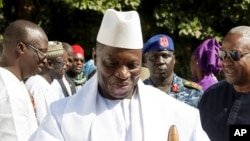 Le président sortant gambien Yahya Jammeh, 13 jamvier 2017.