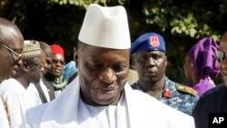 Yahya Jammeh shugaban Gambia da wa'adinsa zai kare gobe Alhamis amma ya ki ya mika mulki