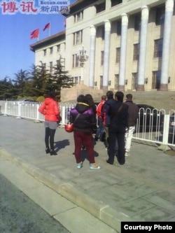 北京山西等地公民向人民代表递交建议书被抓。(图片由博讯提供)