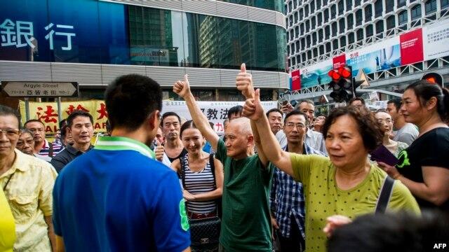 Những người biểu tình ủng hộ dân chủ tại Mongkok, Hồng Kông, ngày 11/10/2014