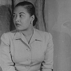 "In nineteen fifty-six, Billie Holiday wrote a book about her life called ""Lady Sings the Blues"""