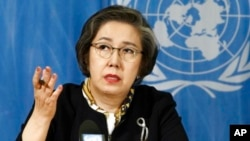 Yanghee Lee, Special Rapporteur on the situation of human rights in Myanmar, delivers her March 13, 2017 report.
