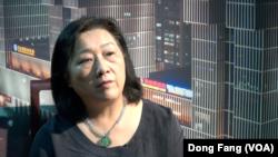 高瑜接受美國之音採訪談薄谷開來(美國之音東方拍攝)