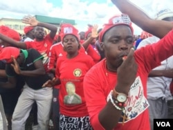 Some MDC-T supporters attending an election rally in Bulawayo on Saturday.