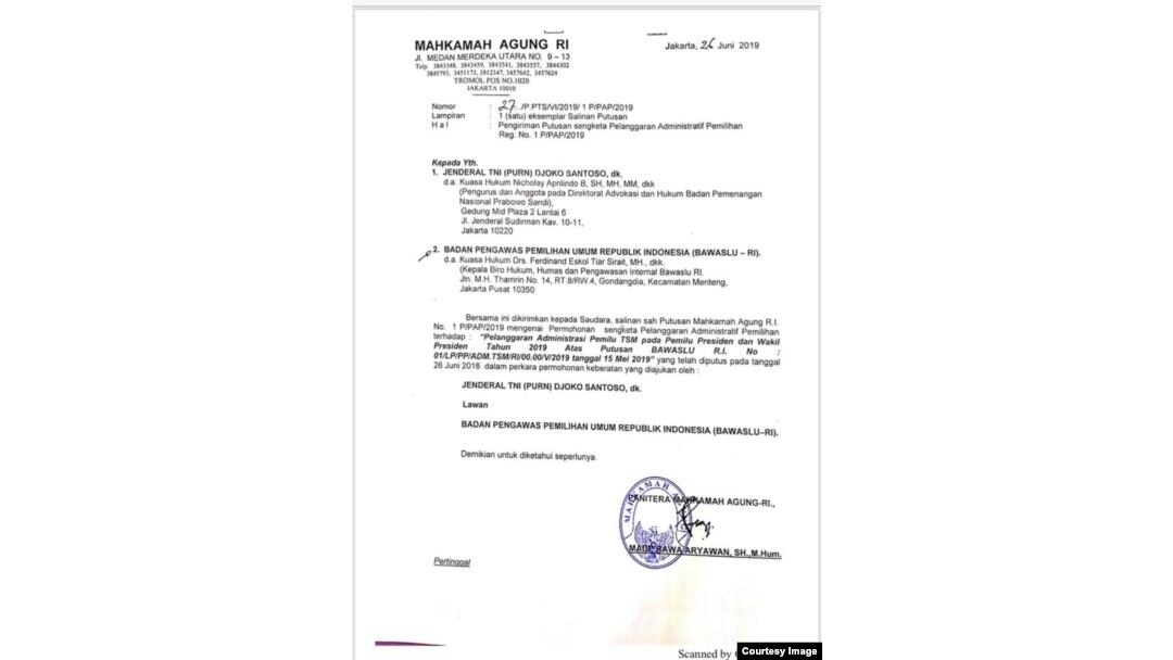 Ma Tolak Permohonan Bpn Prabowo Sandi Soal Pelanggaran