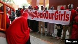抗議者要求尼日利亞政府營救被綁架的女學生