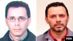 Claudio Adriano Giusto cuando se fugó de Italia (izq.) y ahora tras su captura (derecha).