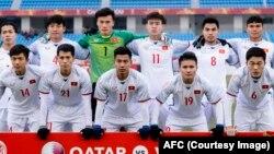 Đội tuyển U23 Việt Nam tại Giải vô địch bóng đá U23 châu Á ở Trung Quốc.