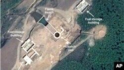 Gambar satelit yang diambil tanggal 26 Mei 2013 ini menunjukan fasilitas peluncuran uji-coba roket terbaru Korea Utara di wilayah Tonghae, Korea Utara (AP Photo/Astrium - 38 North).