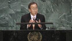 بان کی مون: دولت انتقالی لیبی نیاز های خود را اعلام می کند