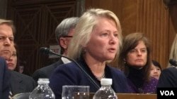 Acting Assistant Secretary of State for East Asian and Pacific Affairs Susan Thornton at the Senate Committee on Foreign Relations hearing. (February 15, 2018)
