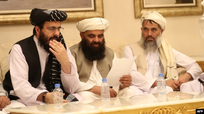 According to Sohail Shaheen, spokesman for the Doha office of the Taliban, the Taliban delegation will stay in Pakistan by October 6.  (File photos)