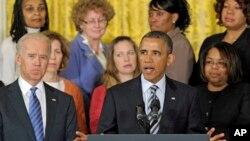 28일 백악관에서 총기 규제 지지를 촉구하는 바락 오바마 대통령.