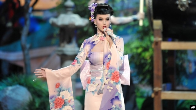Katy Perry performs at the American Music Awards at the Nokia Theatre L.A. Live on Nov. 24, 2013, in Los Angeles.