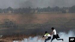 가자지구 시위 현장