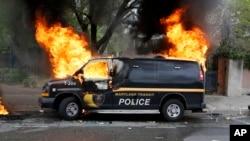 Bạo loạn bùng phát ở thành phố Baltimore