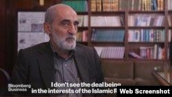 حسین شریعتمداری- تصویری از مصاحبه منتشر شده در وبسایت بلومبرگ