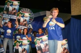 DA leader Helen Zille at a pre-election rally in Port Elizabeth. The DA is convinced it'll gain control of the city on May 18