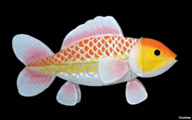 Đèn cá chép theo phong cách Báo Đáp (ảnh tư liệu)