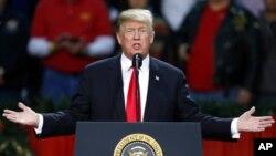 Le président américain Donald Trump, Floride, 27 décembre 2017.