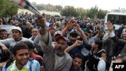 Egiaptski demonstranti traže sudjenje članovima porodice predsednika Mubaraka, Kairo, Egipat, 8. mart, 2011.
